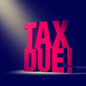 Tax Due Stock Image